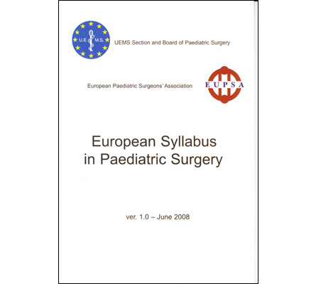 European Syllabus in Paediatric Surgery
